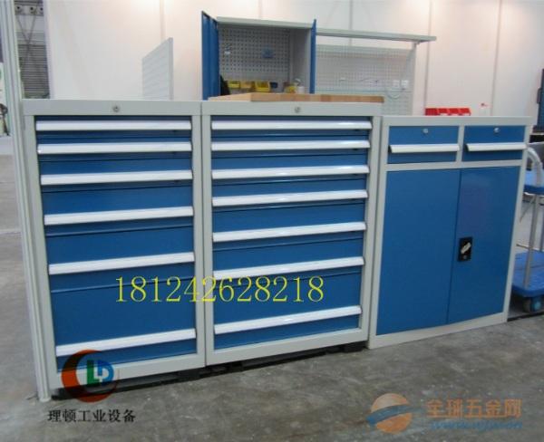 蓝色可移动工具车/抽屉式工具车