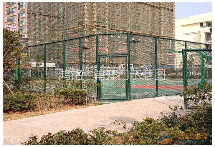 义乌小区篮球场围网