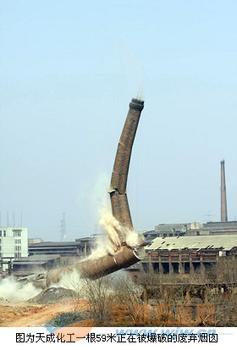 民乐县砖窑烟囱定向爆破拆除公司欢迎访问