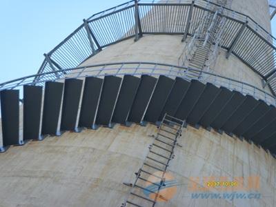 水泥烟囱安装转梯、砼烟囱安装旋转爬梯