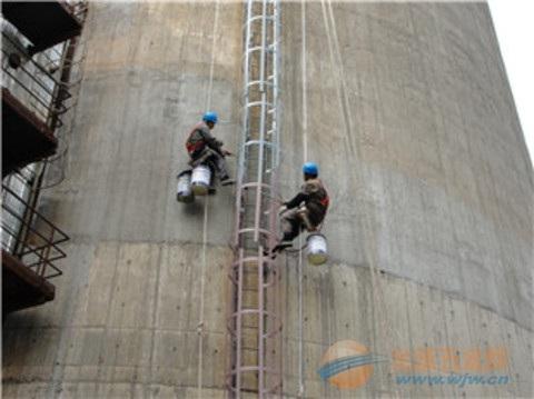 烟囱爬梯护网除锈刷漆防腐