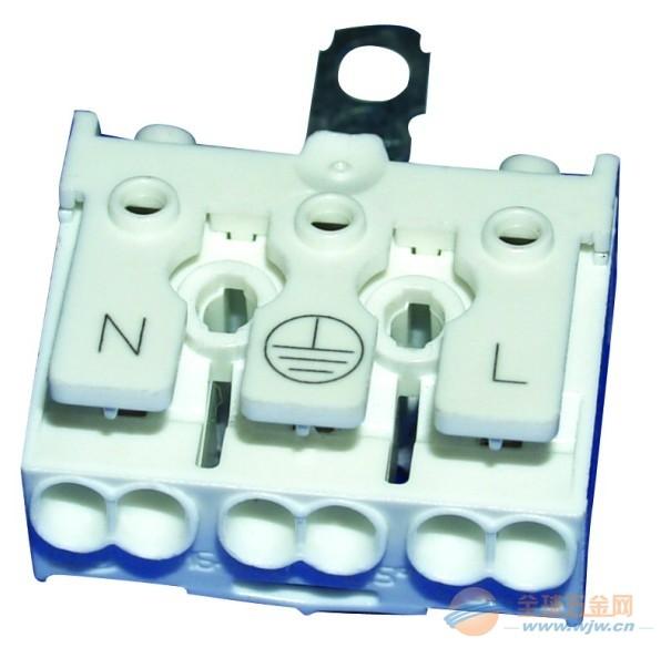 二位,三位LED照明白色接线端子台,接线端子(图)