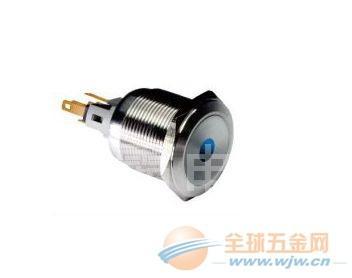 IP67金属防水按钮开关,可带环形灯,小圆灯 (图)