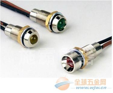 新推出8mm金属防水LED指示灯,可做带线或者端仔(图)