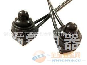 配黑色或红色橡胶防水帽IP54防水等级带线按钮开关