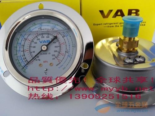 不锈钢耐震耐温冷媒压力表系列(直径63mm和100mm)
