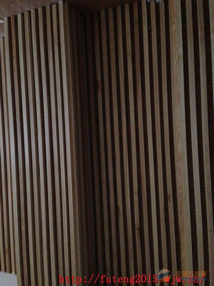 艺术走廊幕墙装饰类木纹铝方通