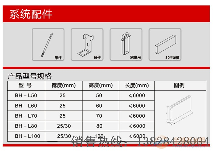 平顶山市造型铝方通报价