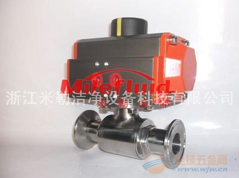 不锈钢卫生级ISO5211气动卡箍式球阀