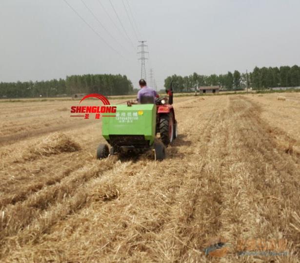 拖拉机带的牧草打捆机 行走式麦草圆捆机