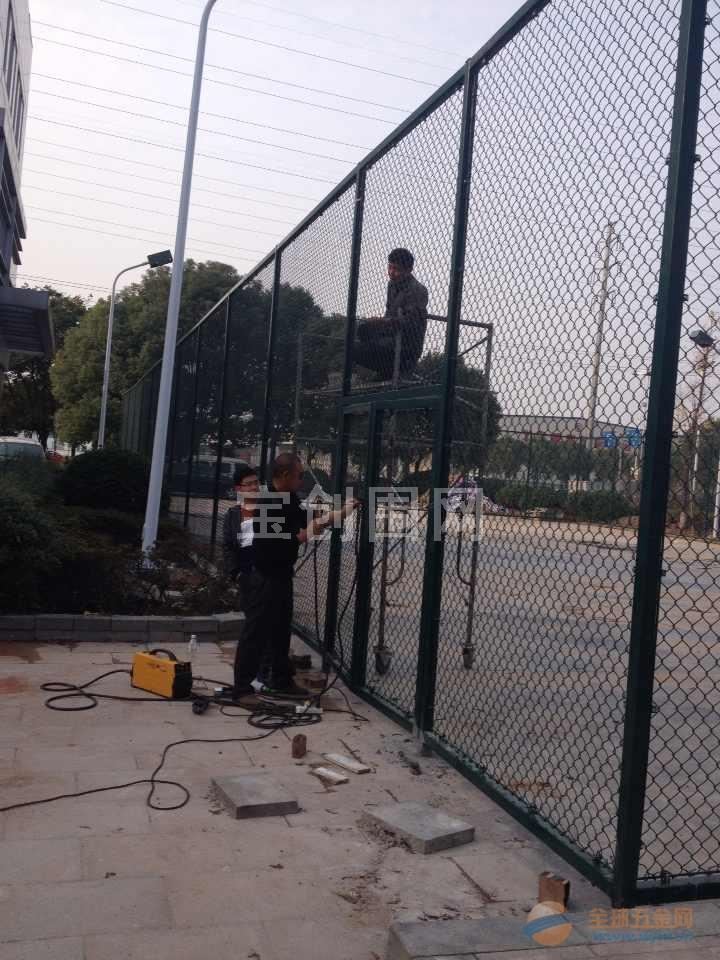 德安县篮球场围栏施工 篮球场护栏设计 篮球场围网图纸
