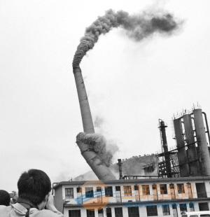 合阳县烟囱拆除爆破工程