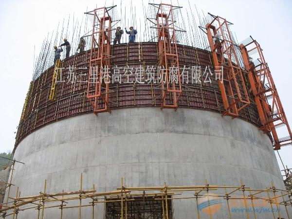 灯塔烟囱施工方案65米-85米滑模烟囱新建