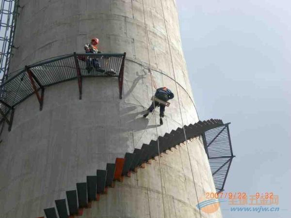 腾冲县烟囱安装爬梯、Z形爬梯、螺旋爬梯等工程