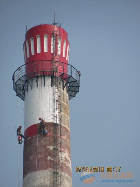 铁东区提供烟囱刷油漆、刷航标美化工程