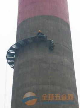 边坝县烟囱安装爬梯、Z形爬梯、螺旋爬梯等工程
