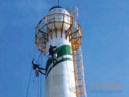 温宿县提供烟囱刷航标美化工程