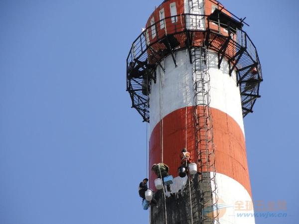 新余提供烟囱刷油漆、刷航标美化工程