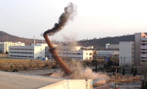 九龙县烟囱拆除爆破工程