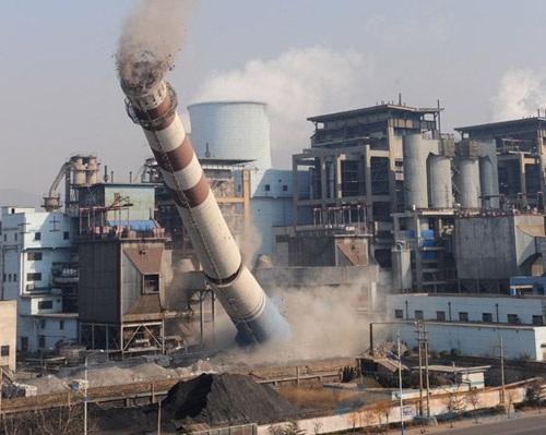 灵川县烟囱拆除爆破工程