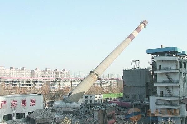 六安烟囱拆除爆破工程