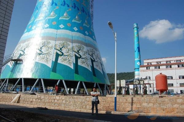八公山区提供烟囱刷油漆、刷航标美化工程