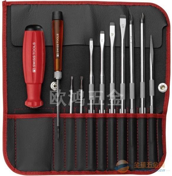 代理 瑞士PB进口套装电工可换杆螺丝刀PB 9216.RED