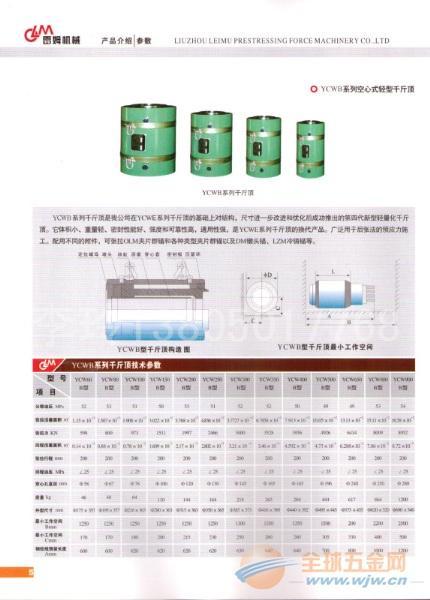 机具-YCW-B系列穿心式千斤顶使用方法及注意教程奶瓶粘土图片