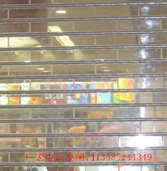 广州电动水晶卷闸门广州不碎胶水晶卷闸门透明水晶卷闸门