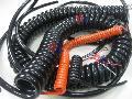 消防车用螺旋电缆,消防车用升降电缆,升降带视频螺旋电缆