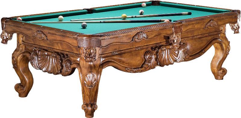 雕刻台球桌