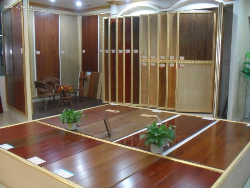 方圆地板-浙江省二轻建筑装饰材料市场群峰地板商行