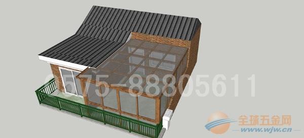 铝合金,不锈钢,碳钢型材阳光房搭建工程. 双层钢化玻璃,3.