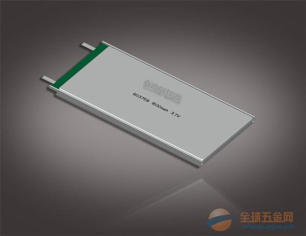 河北移动电源用603759聚合物软包锂电池图片