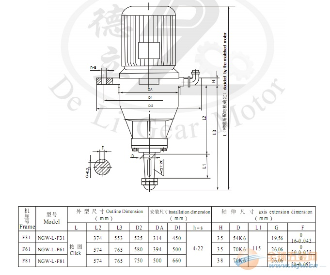 厂家现货供应:ngw-l-f31系列冷却塔减速电机