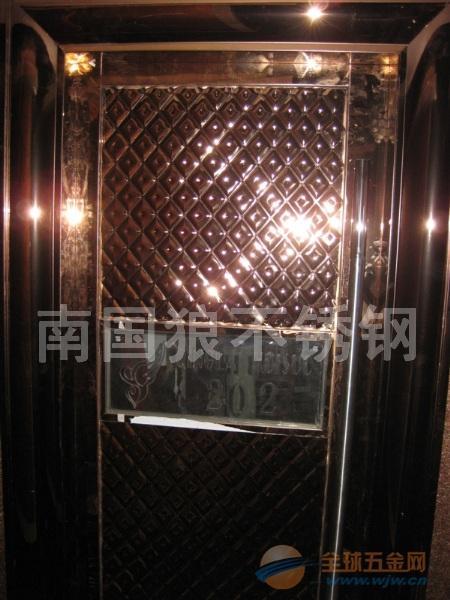不锈钢黑钛金门框门套