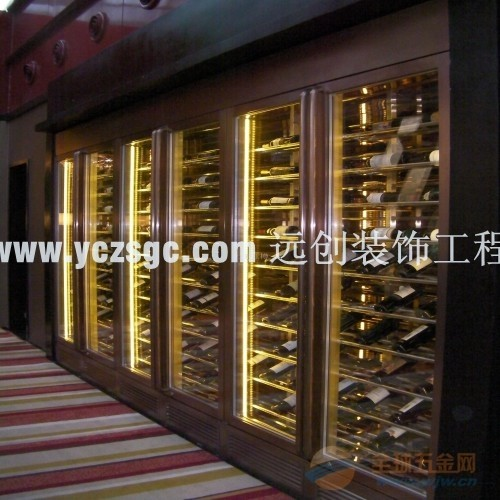 中式不锈钢酒柜, 欧式不锈钢红酒柜订做