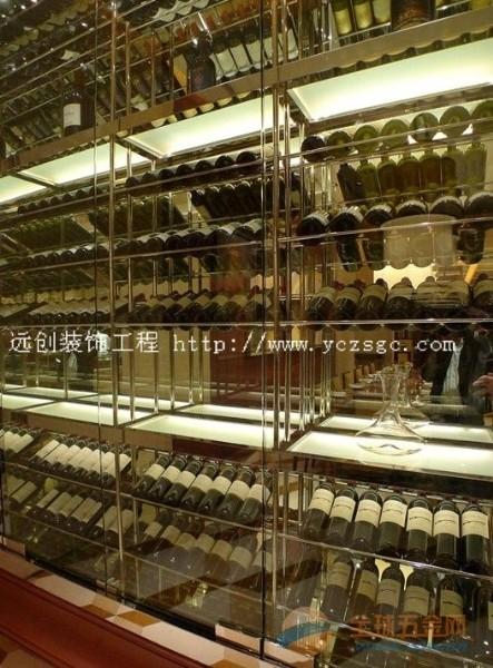 佛山精品不锈钢酒架订做,远创不锈钢酒架高清效果图,不锈钢酒架工艺要求