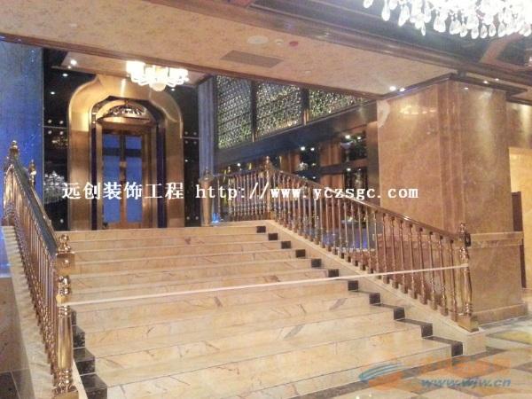 星级酒店不锈钢大门定做,高档彩色不锈钢大门质量保证!