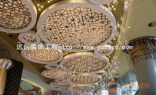 酒店大堂不锈钢吊顶定做,葡京酒店大堂不锈钢吊顶