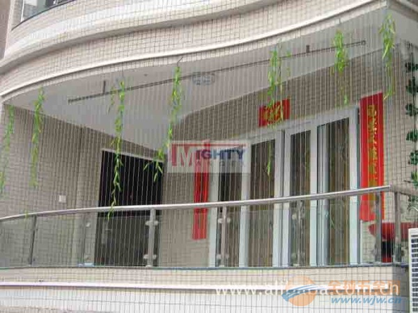 无框折叠窗推拉窗防护网铝合金窗