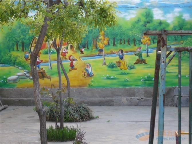 幼儿园卡通喷绘 幼儿园专用喷绘设计 幼儿园室内卡通画