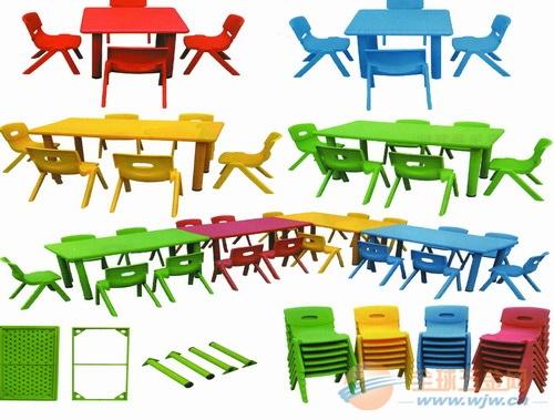 幼儿园塑料桌椅 木制儿童课桌椅价格 山东儿童玩具厂
