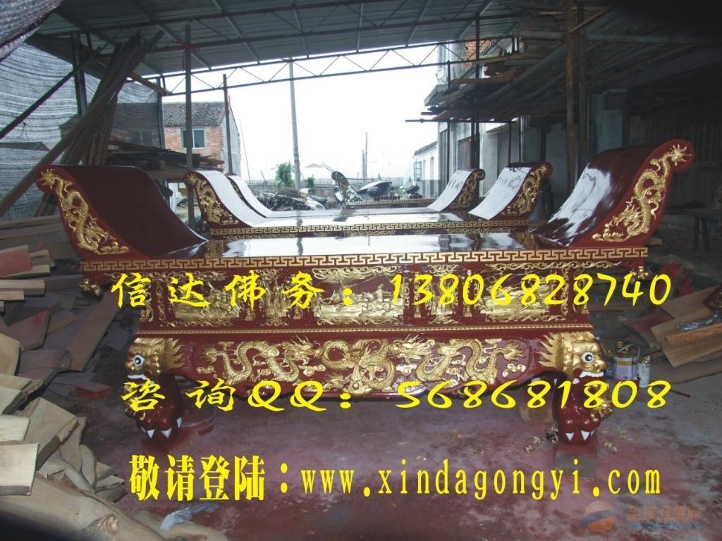 温州苍南寺庙供桌厂商 精雕寺庙供桌 普雕喷漆按金寺庙供桌