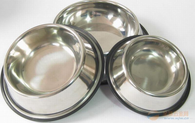 不锈钢宠物碗,不锈钢狗碗,不锈钢宠物食具