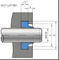 进口旋转轴的密封,HG4-338-66(J无骨架油封)J形无骨架防尘密封