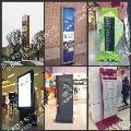 商场区域分布平面图标识牌&商场通道分流吊牌&商场吸塑灯箱