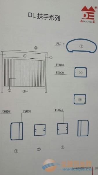 栏杆铝型材批发、生产扶手铝型材、栏杆扶手铝材厂家