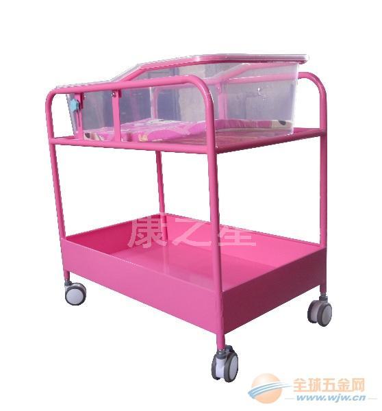 医院妇产科常用桃红色婴儿床