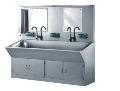 厂家供应不锈钢自动洗手槽 自动感应洗手池 消毒洗手槽